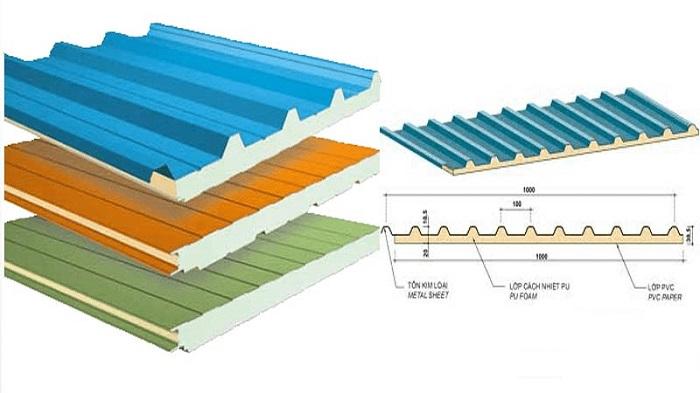 Tôn xốp cách nhiệt có cấu tạo 3 lớp đặc biệt