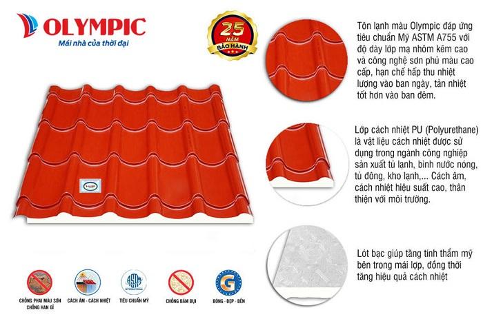 Tôn lợp mái Olympic cũng được người tiêu dùng tin tưởng lựa chọn