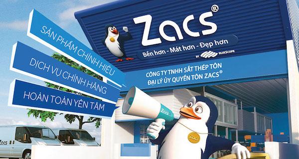 Ứng dụng của tôn Bluescope ZACS®