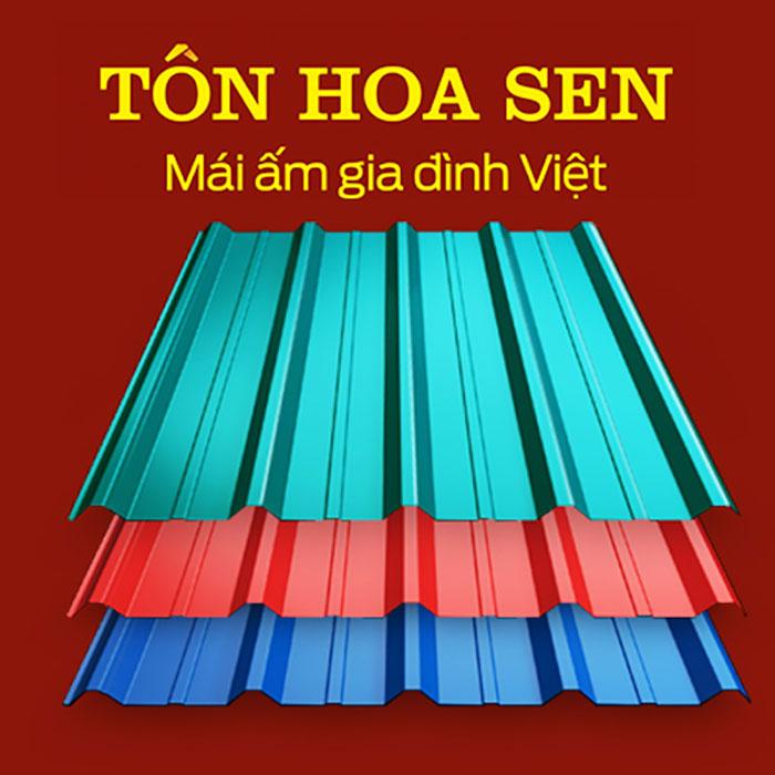 Tôn Hoa Sen - Một trong những nhãn hiệu đi đầu trong ngành tôn thép Việt