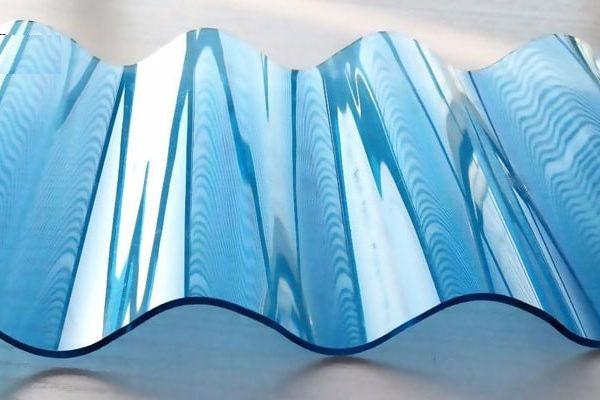 Tôn nhựa lấy sáng sợi Polycarbonate dạng sóng