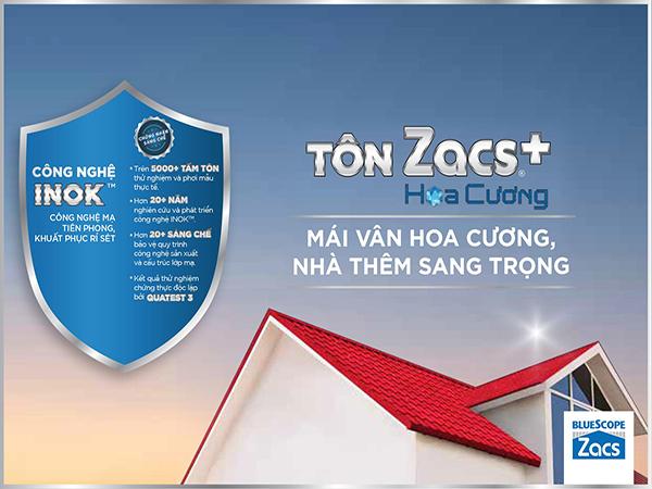 Tôn Bluescope ZACS® Hoa Cương INOK™