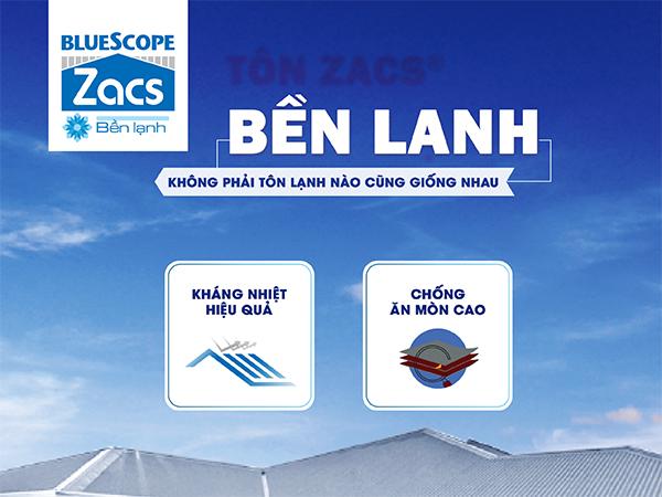 Tôn Bluescope ZACS® Bền Lạnh
