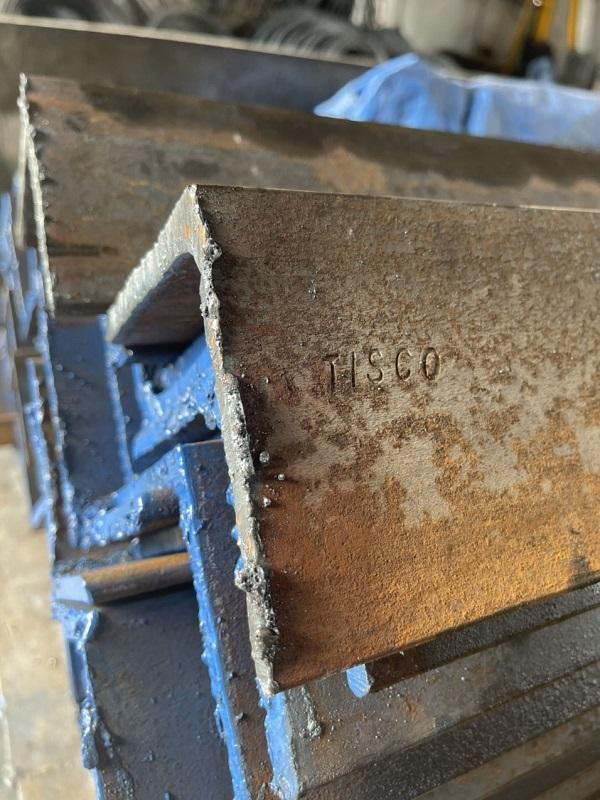 Thép V Tisco Thái Nguyên chính hãng luôn có chữ in dập nổi trên thân